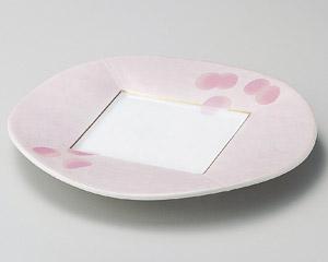 ピンク吹銀彩80皿