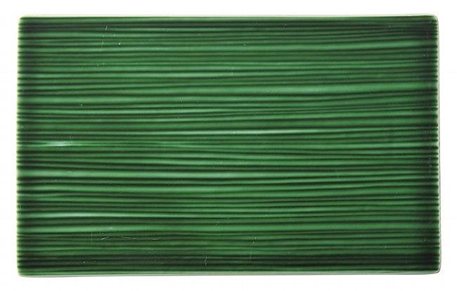 和粋 エバーグリーン 24cm線紋平長角皿 画像