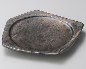金結晶変形五角皿