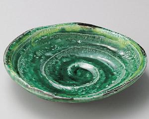 緑釉黄流し六兵衛7.0皿