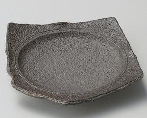 炭化土変形五角6寸皿