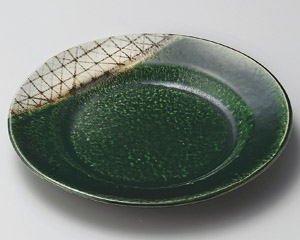 サビ織部格子8.0和皿