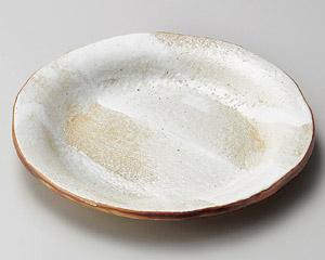白油滴刷毛4.5反り丸皿