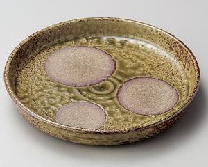 伊賀ビードロ丸紋切立8寸盛皿