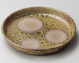 伊賀ビードロ丸紋切立7寸盛皿