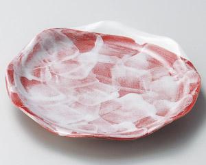 赤楽花型7.0皿