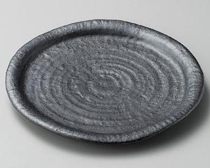 結晶黒マット8.0皿