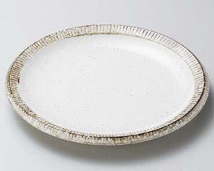 渕錆粉引24cm皿