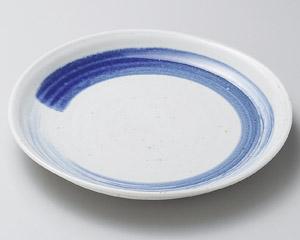 ワラ白呉須刷毛7.0丸皿