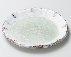 ヒワ釉渕十草6.0丸皿 画像