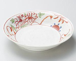 粉引釉古代赤絵7.0深皿