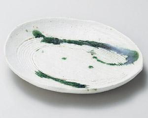 白クシメ楕円取皿
