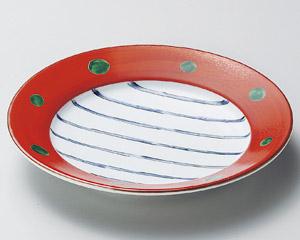 朱巻十草6.0リム皿