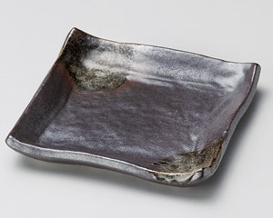 鉄黒銘々皿