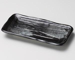 削ぎ型黒串皿