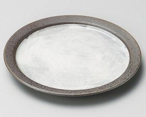 伊賀風粉引リム4.0皿