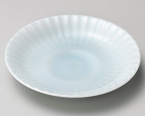 青白磁菊4.0皿