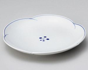 染付梅ライン4.5皿