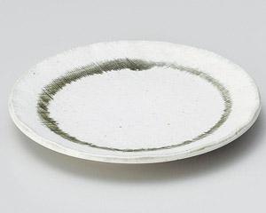 粉引織部布目5.0皿