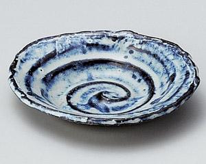 手造りちぎり楕円小皿