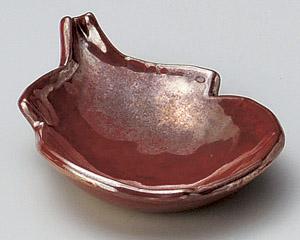 紅結晶ナス型小皿