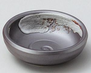 サビ白刷毛深小皿