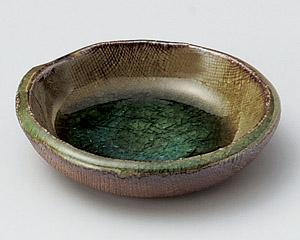 灰釉布目3.5皿
