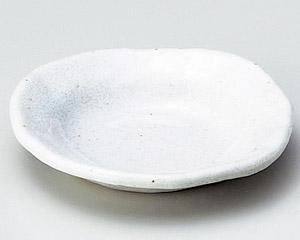 白釉変形丸小皿