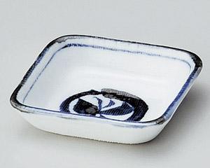 丸紋蝶正角小皿
