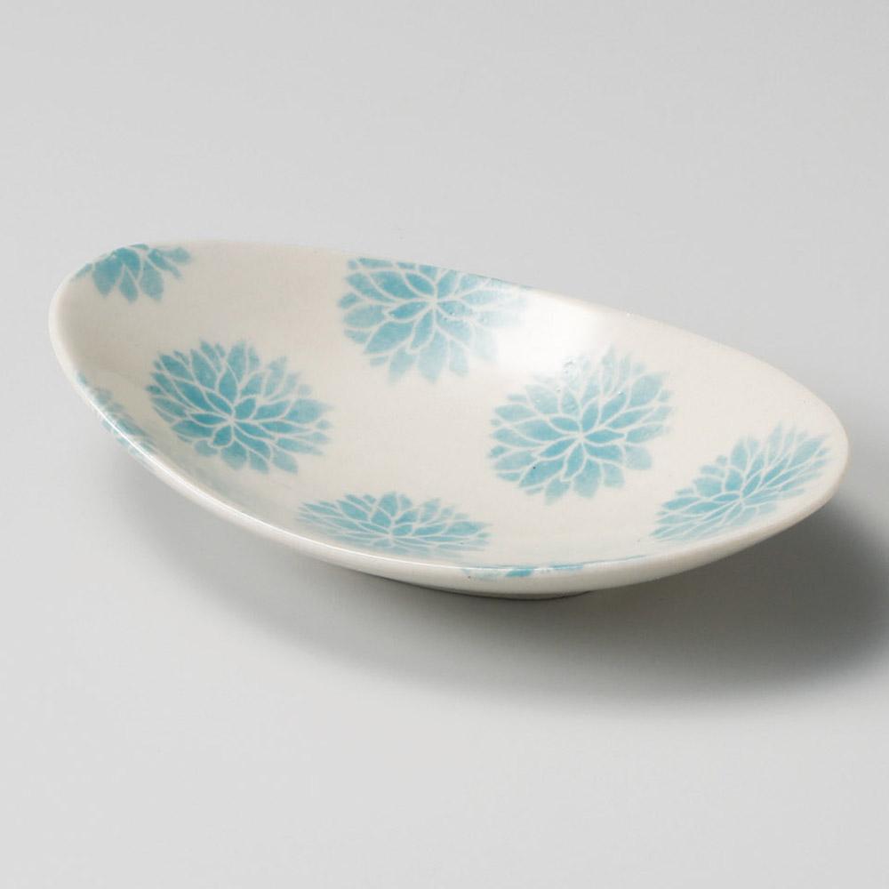 花一輪水色小皿 #081