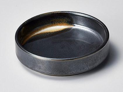 鉄黒白流しスタック小皿