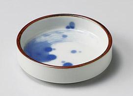 青刷毛波しぶきスタック小皿