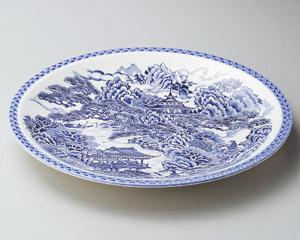 仙人山水10号丸皿