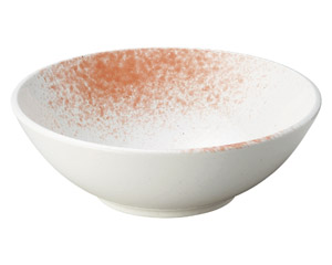 白玉粉引ピンク吹尺盛鉢(ビュッフェスタイル)