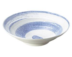 白玉粉引青刷毛渦尺鉢