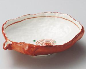 朱巻片口大平鉢