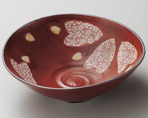 赤楽春風変型平鉢(小)