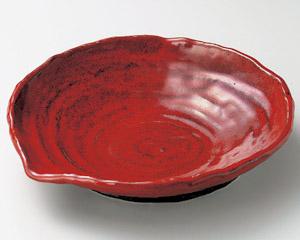 赤釉8.5片口皿