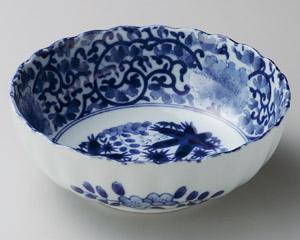 藍染唐草3.5鉢