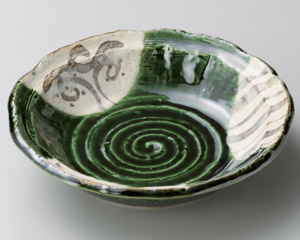里山織部手作り4.8丸鉢