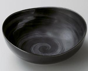 刷毛目銀彩たわみ4.5鉢