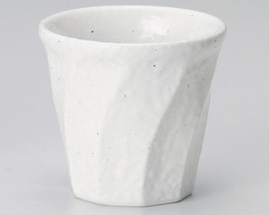 雪粉引ねじりロックカップ
