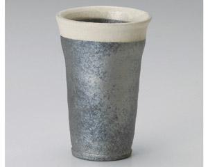 黒窯変口白フリーカップ