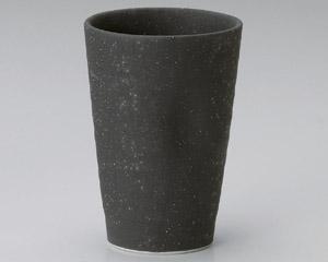 黒荒釉ビヤカップ