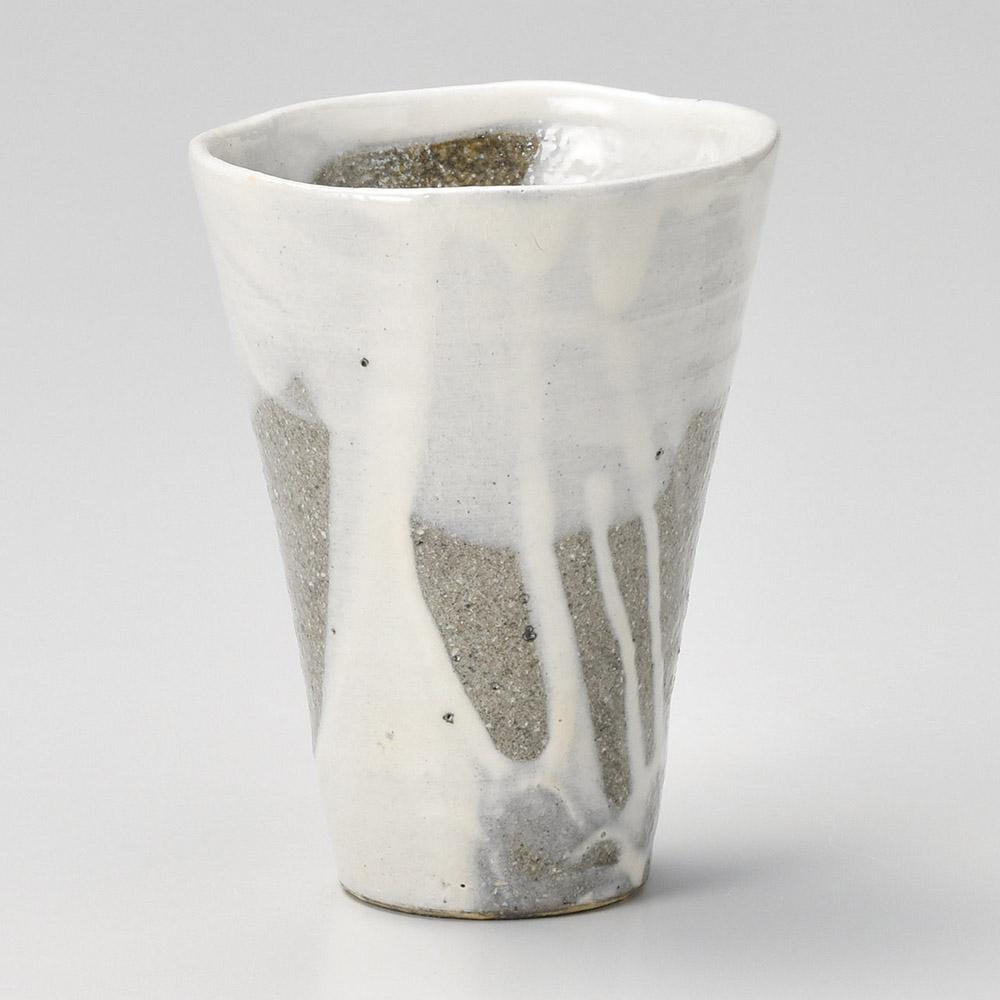 粉引流しフリーカップ