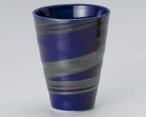 銀刷毛ブルーフリーカップ