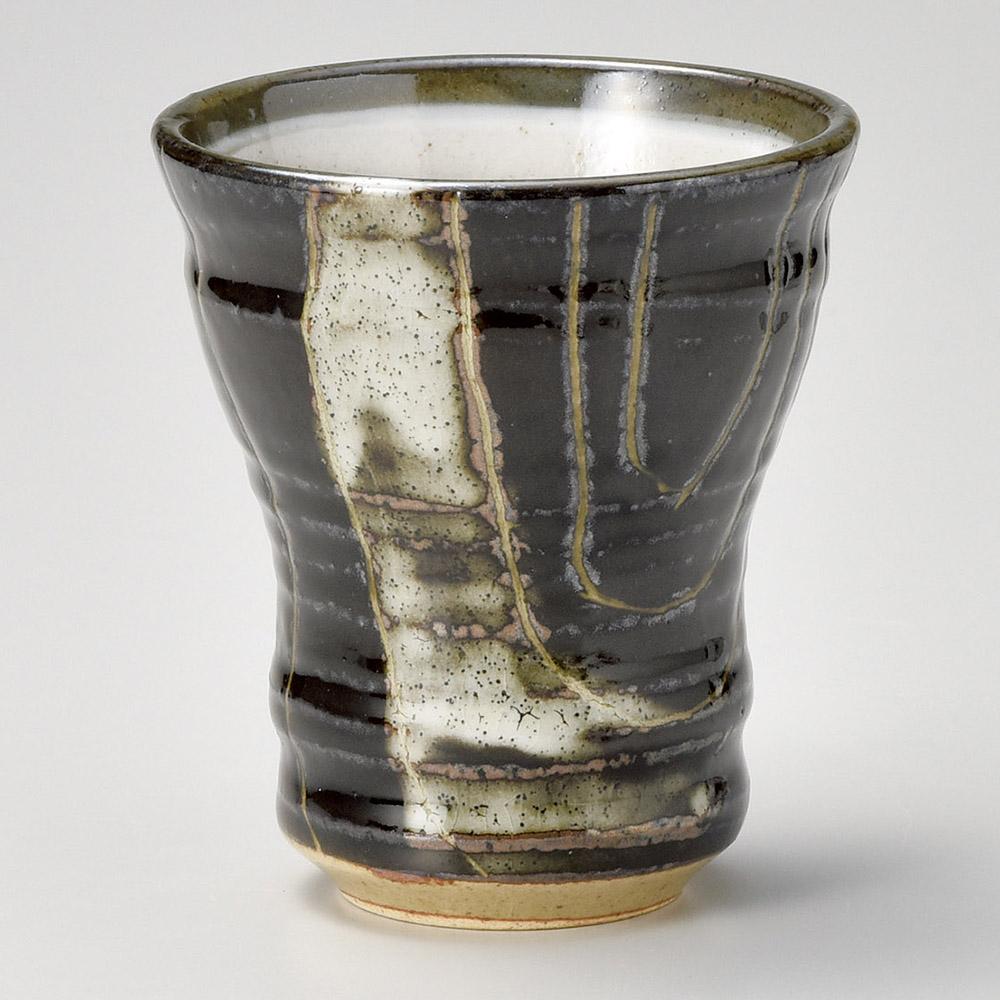 年輪 黒 フリーカップ