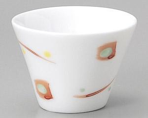 白磁点紋赤絵珍味&冷酒杯