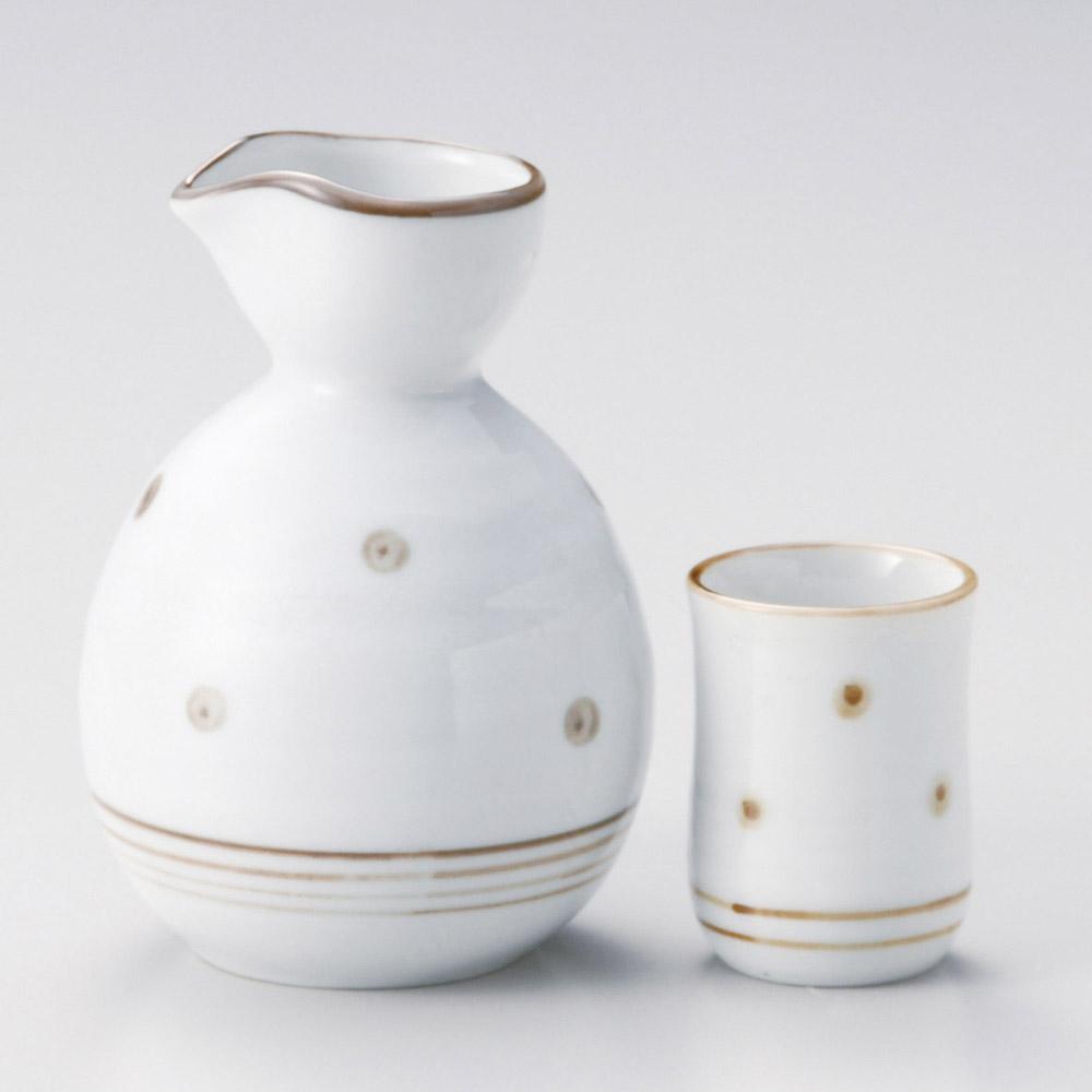茶錆点紋盃