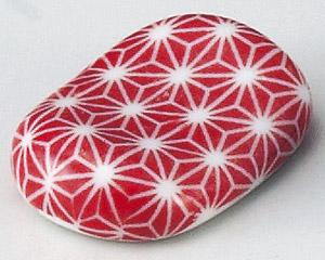 刺子小判型箸置(赤)